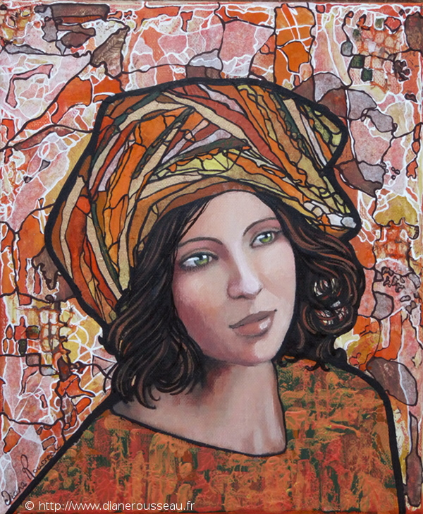 Le petit turban orange, Diane Rousseau