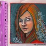 Portrait fleuri 1, Diane Rousseau