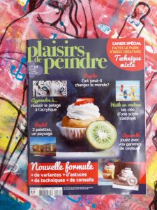 magazine, plaisirs de peindre, démo, technique mixte, mixed media, diane rousseau