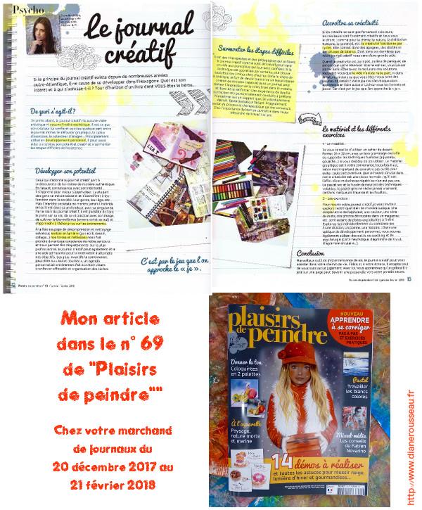 plaisirs de peindre, journal créatif, diane rousseau