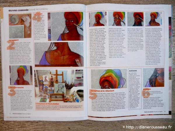 démo, portrait créatif, presse, plaisirs de peindre, diane rousseau